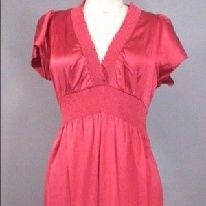 BCBG Max Azria Pink Silk Dress with Tie